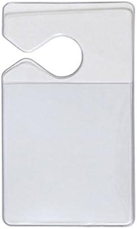 Amazon.com: 100 Pack, transparente rígida vinilo medio de ...