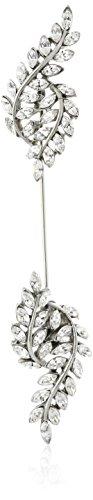 Ben-Amun Jewelry Swarovski Crystal Leaf Stick Pin Brooch