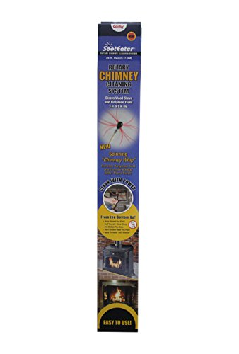 Rotary Chimney Cleaning System - Sooteater Liner Kit - (8) 3' Flex Rods - 24 ft. reach (8 Chimney Brush Kit compare prices)