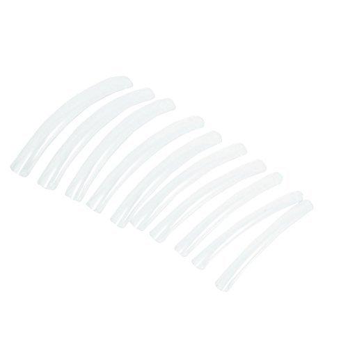 Acrylique bricolage Long Faux ongles franais Art Conseils Outils Salon 10PCS Clair