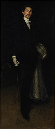 [Oil Painting 'James McNeill Whistler - Arrangement In Black, Gold Comte Robert De Montesquiou-Fezensac, 1891-92' 16 x 37 inch / 41 x 95 cm , on High Definition HD canvas prints, Bath Room, Foy] (White Trash Lady Costume)