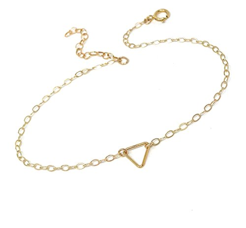 Simple Triangle Anklet - Dainty Anklet - Everyday Anklet Jewelry by SivadoStudio