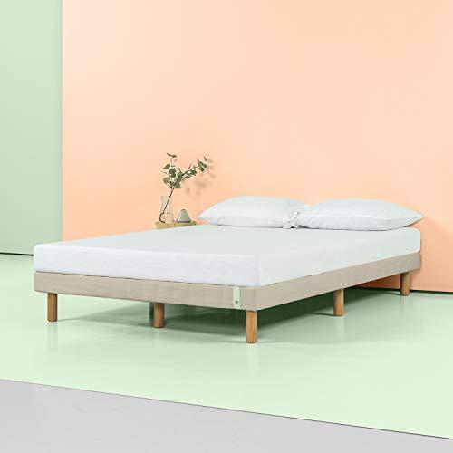 Zinus 11 Inch Quick Snap Standing Mattress Foundation/Low profile Platform Bed/No Box Spring needed, Beige, Twin
