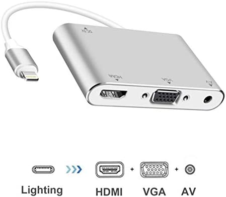 Boomly HDMI VGA Adaptador convertidor de Audio AV Compatible con ...