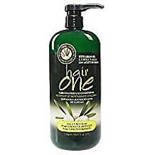 Hair One Argan Oil Hair Cleanser Conditioner For Curly Hair (1 Liter / 33.8 fl oz)
