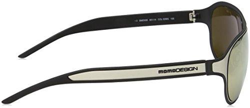 Sol Hombre Satin Shiny Design de Gafas Momo Palladium para Marrón 4FxaTvxnw