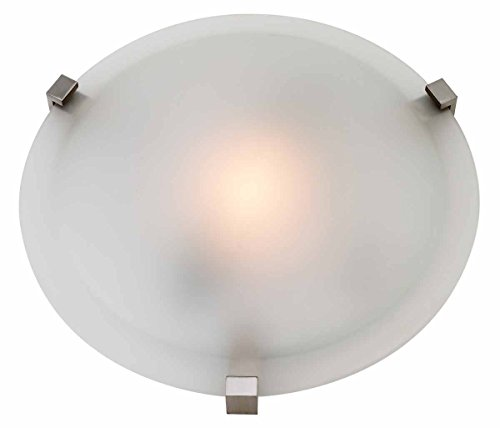 Cirrus Glass Bowl - One Light Satin  Frosted  Glass Bowl Flush Mount