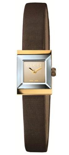 7a44c4eff1c Gucci G-Frame Square 18kt Gold Womens Strap Watch Brown Mirror Dial Quartz  YA128506  Amazon.ca  Watches