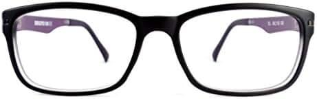 Retro Eyeworks Duraspex 109 Anti-glare Reading Glasses 53-18 MM 1.75x Black W/ Purple Temple