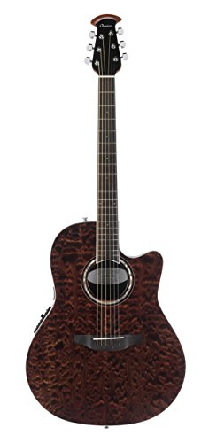 (Ovation CS28P-TGE Celebrity Standard Exotic Super Shallow Depth, Acoustic-Electric Guitar, Tiger Eye Brown Quilt)