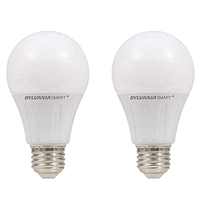 Sylvania Lightify 10W 60W 10 Year A19 White Smart Home LED Light Bulb (2 Pack)