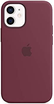 Apple Silicone Case with MagSafe (for iPhone 12 mini) - Plum