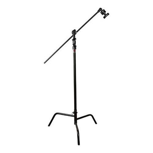 Matthews 40'' C+ Stand w/ Spring Loaded Turtle Base, Head and Arm - Black by Matthews