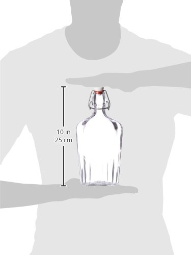 Bormioli-Rocco-Fiaschetta-Glass-17-Ounce-Pocket-Flask-Set-of-2