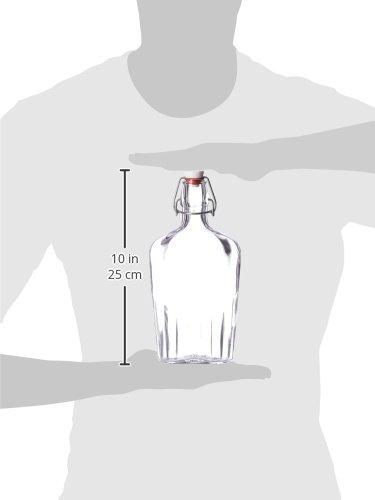 Bormioli-Rocco-Fiaschetta-Glass-17-Ounce-Pocket-Flask-Set-of-2