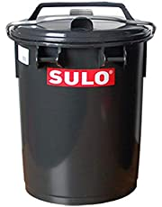 Sulo Systeemvuilnisemmer, grote afvalcontainer, vuilniscontainer, van kunststof, met aluminium beugel, grijs, verschillende maten