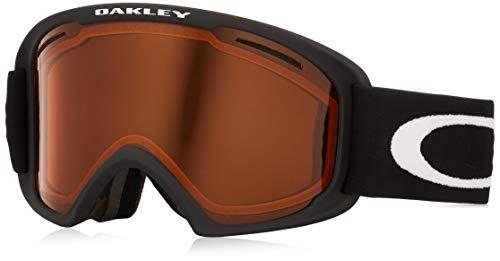 Oakley O Frame 2.0 Snow Goggle, Matte Black, Medium, Persimmon Lens