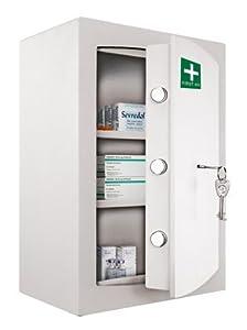 Medicine Cabinet - Key Locking Safe Medical Cabinet - First Aid ...