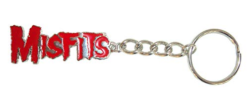Misfits - Red Logo Metal Keychain - 2.125