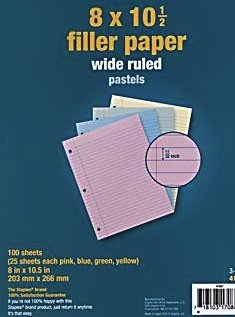 (Staples Pastel Filler Paper, 8