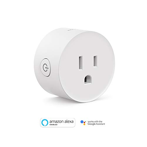 Smart Plug, Koogeek Wi-Fi Enabled Compatible with Alexa and Google Assistant Remote & Voice Control Timer Set Scenes No Hub Required ETL Listed AC120V White (Mini Smart Plug (1 Pack))