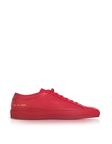 COMMON PROJECTS HOMME 15283005 ROUGE CUIR BASKETS