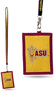 NCAA Arizona Wildcats Beaded Gem Lanyard with ID Wallet