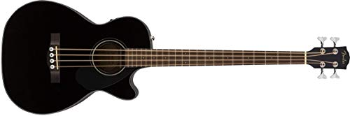 Fender CB-60SCE Concert Acoustic-Electric Bass Guitar (Black) ()
