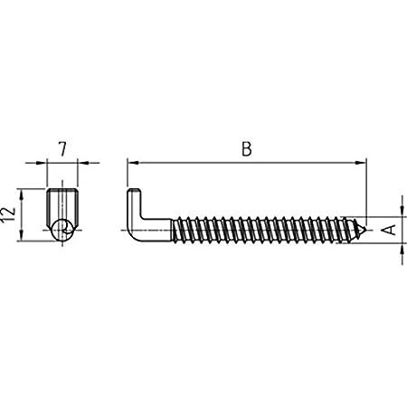 Schraubhaken Art.7 mit Schlitz galv 5,8 x 65-100 St/ück verzinkt