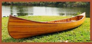 Amazon com : Cedar Strip Built Canoe Wooden Boat 12' For