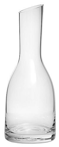 16 Ounce Clear Glass Verona Straight-Neck Carafe with Slanted Top