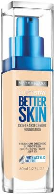 Maybelline New York SuperStay Better Skin Foundation, Porclain 1 oz (Pack of 3)