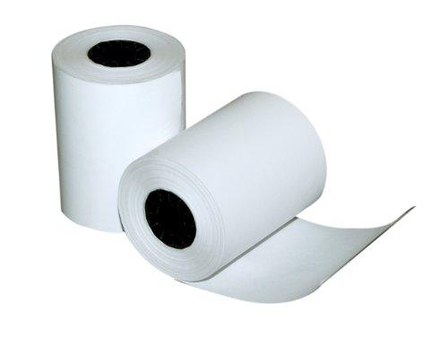 Quality Park negro imagen calculadora y POS/caja registradora de papel térmico rollos de una sola capa, Blanco, 2-1/4' x 80...