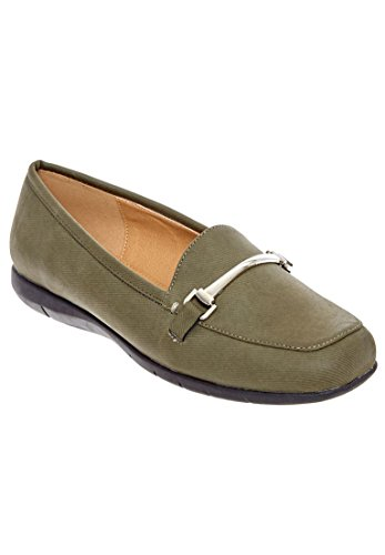 Comfortview Womens Wide Emily Flats Oliva
