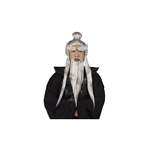 Sensei Wig, Beard and Eyebrows Set Costume Accessory -