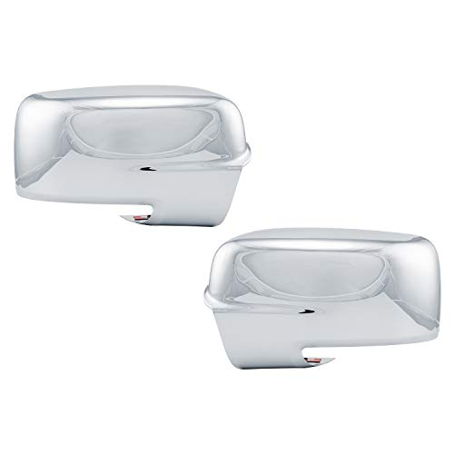 Restyling Factory Chrome Full Mirror Cover with Turn Signal Light Hole for 2013-2018 Dodge Ram
