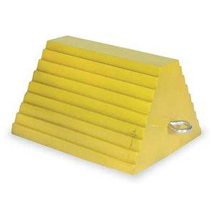 Industrial Grade 1GUL5 Wheel Chock, 15 In W x 14 In H, Yellow