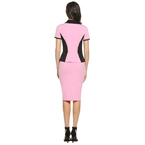 67f506719428 Hotouch Women's Cotton Long Sleeve Button Down Bodycon Midi Dress with Belt  durable service