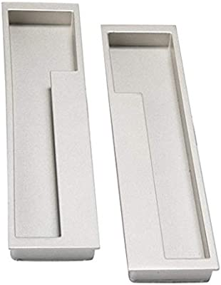 Tenlacum - Tirador de puerta para puerta corredera, armario, cajón, armario, color plateado: Amazon.es: Bricolaje y herramientas