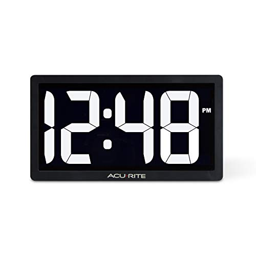 Image of AcuRite 75114M 10-inch LED Digital Clock with Auto Dimming Brightness White