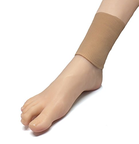 ZenToes Gel Lined Ankle Pads Protector Sleeve Protects from Lace Bite from Skates (1 (Lace Pads)
