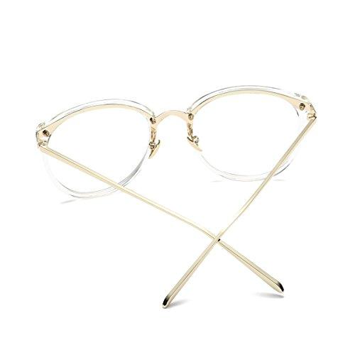 7d0ff11f4e Amomoma Fashion Round Eyewear Frame Eyeglasses Optical Frame Clear Lens  Glasses AM5001