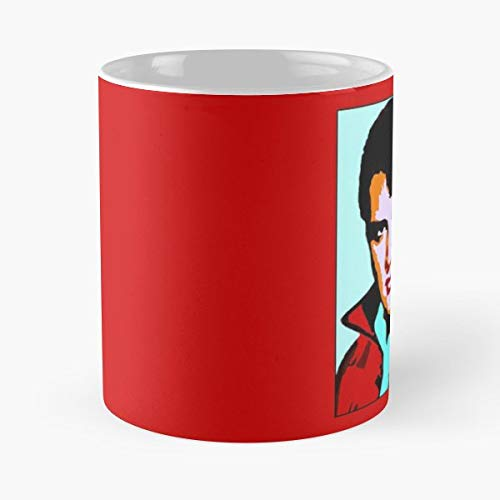 Digital Print Elvis Posters Prints Colorful Image Funny Floral Coffee Mugs Gifts ()