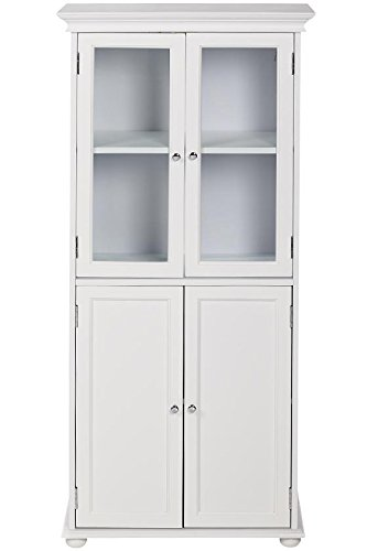 Nice Hampton Bay 25u0026quot;w Four Door Tall Bath Cabinet, ...