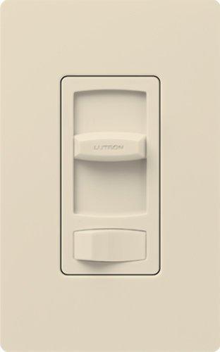 Lutron CTCL-153P-LA LED Dimmer, 1-Pole 3-Way 600W Skylark Contour Dimmer Switch - Light Almond