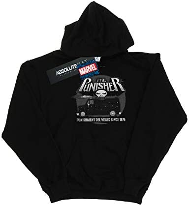 Marvel Damen The Punisher Battle Van Kapuzenpullover Schwarz Large