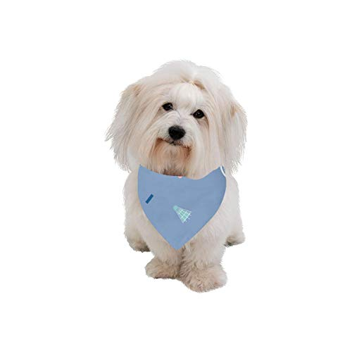 VNASKL Easter Pet Dog Cat Bandana Badminton Racket Entertainment Motion Fashion Printing Bibs Triangle Head Scarfs Kerchief Accessories for Large Dog Cat Pet Birthdays Party ()