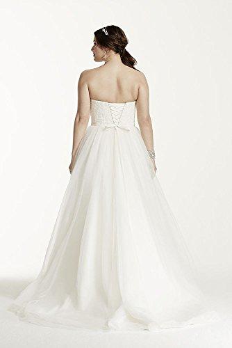Soft tulle lace corset plus size wedding dress style 9wg3633 for Corset wedding dresses plus size