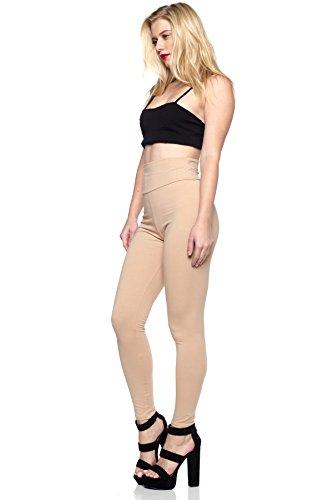 Women's Junior Plus J2 Love Cotton High Waist Leggings, 3X, Nude by Cemi Ceri (Image #2)