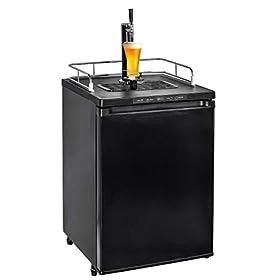 Smad Beer Kegerator Refrigerator Full Size Draft Beer Dispenser with Digital Display Beer Keg Cooler, 5.6 cu ft